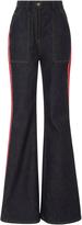 Diane von Furstenberg High Waisted Bell Bottom Jeans