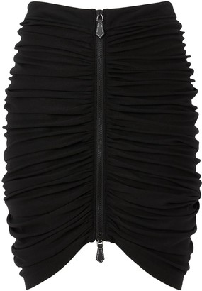 Burberry Ruched Mini Skirt