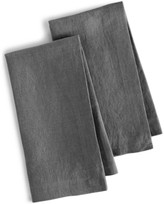 Hotel Collection Linen 2-Pc. Modern Gray Napkins, Created for Macy's
