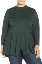 Melissa McCarthy Flounce Peplum Top (Plus Size)