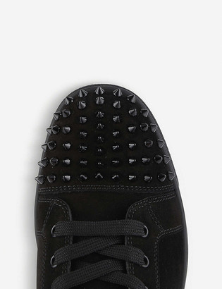 Christian Louboutin Lou spikes flat suede