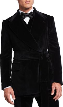 Dolce & Gabbana Men's Belted Velvet Tuxedo Jacket