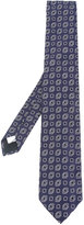 Lardini square print tie - men - Silk - One Size