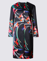 Marks and Spencer Abstract Floral Print Coat