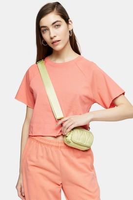 Topshop Womens Apricot Raglan Crop T-Shirt - Apricot