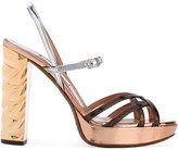 L'Autre Chose ankle length sandals - women - Calf Leather/Leather - 35.5