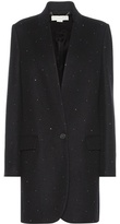 Stella McCartney Crystal-embellished Wool And Cashmere-blend Coat