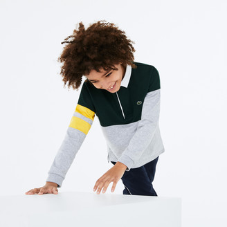 Lacoste Boys' Colorblock Thick Cotton Rugby Polo