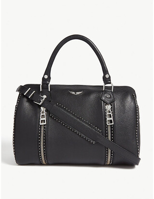 Zadig & Voltaire ZADIG&VOLTAIRE Sunny studded leather bowling bag