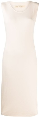 Raquel Allegra Crew-Neck Midi Dress