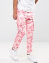 Liquor & Poker Cargo Pant Pink Camo