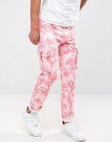 Liquor & Poker Cargo Trouser Pink Camo