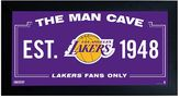 "Steiner Sports Los Angeles Lakers Framed 10"" x 20"" Man Cave Sign"