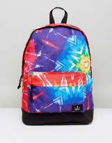 Asos Festival Backpack In Bright Tie Dye Design