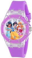 Disney Kids' PN1168 Flashing-Dial Watch with Purple Rubber Band