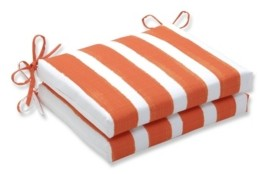 """Pillow Perfect Nico Stripe 16"""" x 18.5"""" Outdoor Chair Pad Seat Cushion 2-Pack"""