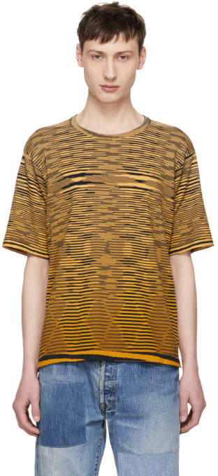Missoni Yellow Striped Effect T-Shirt