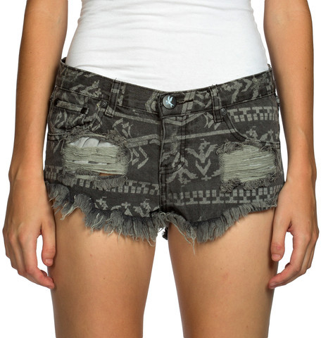 One Teaspoon Desert Short Charcoal