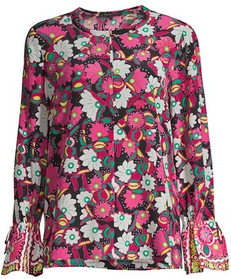Kobi Halperin Pia Floral Silk Blouse