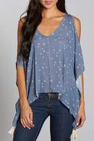 Love Stitch Lovestitch Peek-a-Boo Shoulder Top