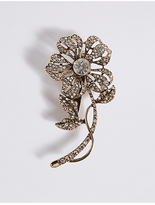 M&S Collection Sparkle Bud Brooch