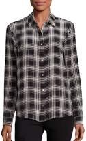 The Kooples Women's Checked Silk Shirt