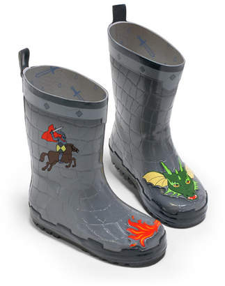 Kidorable Boy Natural Rubber Dragon Knight Rain Boots