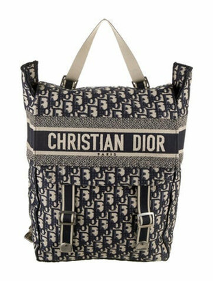 Christian Dior 2019 Oblique Backpack Blue