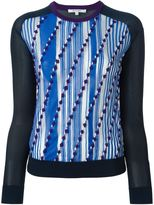 Carven front print sweater