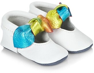 Freshly Picked Baby Girl's Prism Knotted Bow Moccasins
