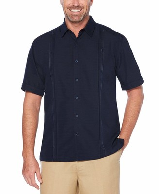 Cubavera Big & Tall Embroidered Double Tuck Shirt