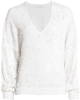 IRO Sequin V-Neck Pullover