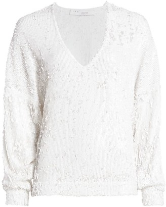 IRO Sequin V-Neck Pullover