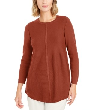 Style&Co. Style & Co Knit Mixed Stitch Tunic, Created for Macy's