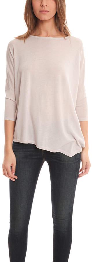 Blue & Cream Blue&Cream Drop Shoulder Asymmetrical Sweater