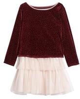 Frais Toddler Girl's Velvet Top & Tank Dress