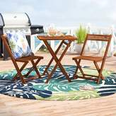Beachcrest Home Aranmore 3 Piece Bistro Set Color: Natural Acacia