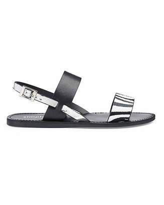 Simply Be Claudia Two Strap Sandal Wide Fit