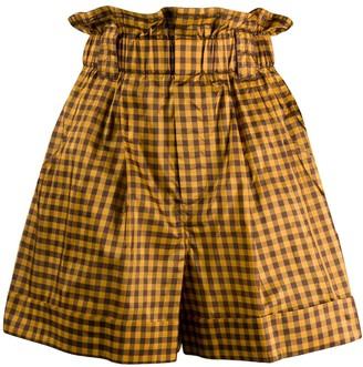 Fendi Gingham Paperbag Shorts