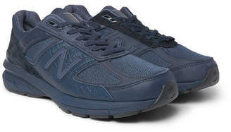 New Balance + Engineered Garments 990v5 Croc-Effect Leather, Suede, Nubuck And Mesh Sneakers