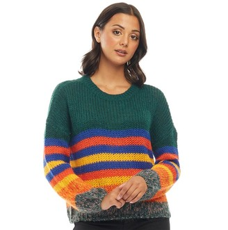 Only Womens Carle Long Sleeve Pullover Forest Biome
