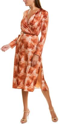 Max Mara Cenere Silk A-Line Dress
