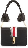 Altuzarra Ghianda Woven Leather Shoulder Bag, Black