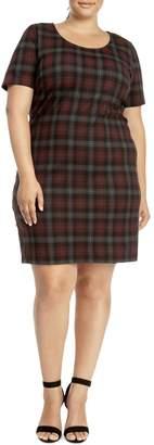 Dex Plus Plaid Sheath Dress