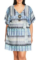 City Chic Plus Size Women's 'Moroccan Affair' Embellished Print Tunic
