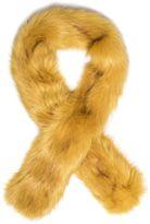 Quiz Mustard Faux Fur Scarf