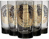 One Kings Lane Vintage 1960s Smoked Glass & Gilt Tumblers