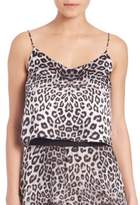 Marie France Van Damme Cropped Silk Camisole
