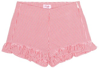 Il Gufo Cotton seersucker shorts