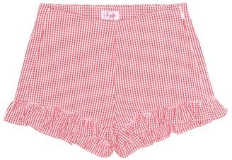 Il Gufo Cotton seersucker shorts